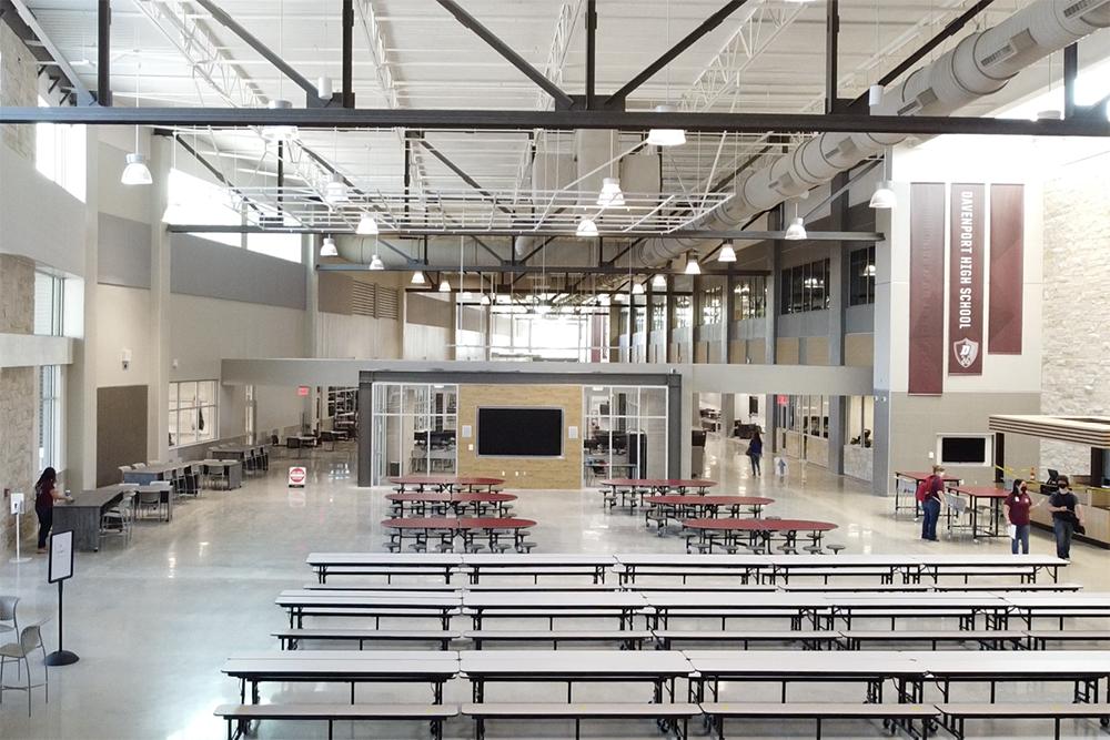 Davenport HS hall