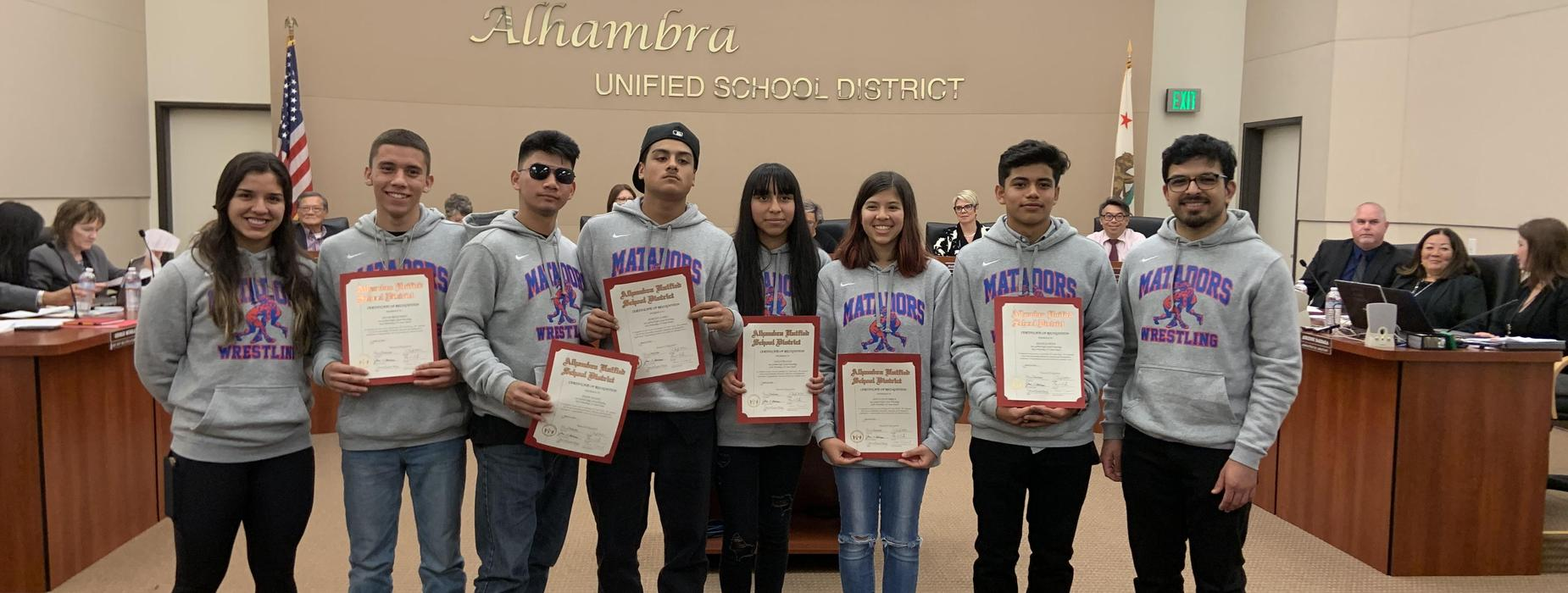 SGHS Student Recognition at AUSD Board Meeting