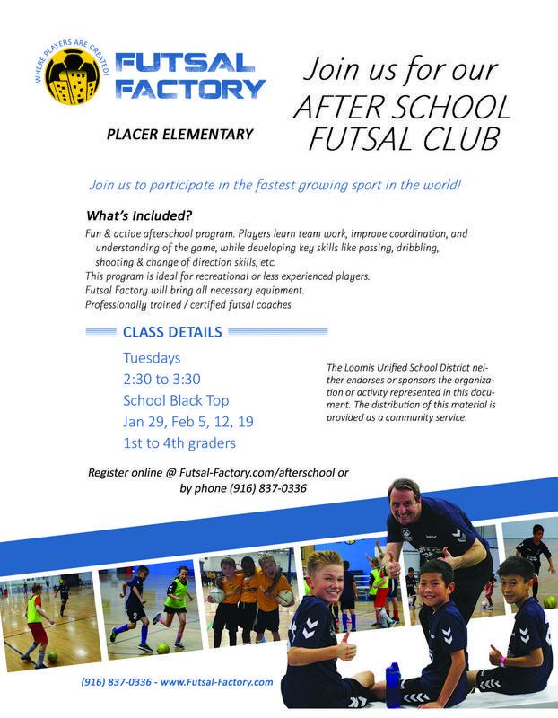 After School Futsal Factory Club for 1st-4th Graders Featured Photo