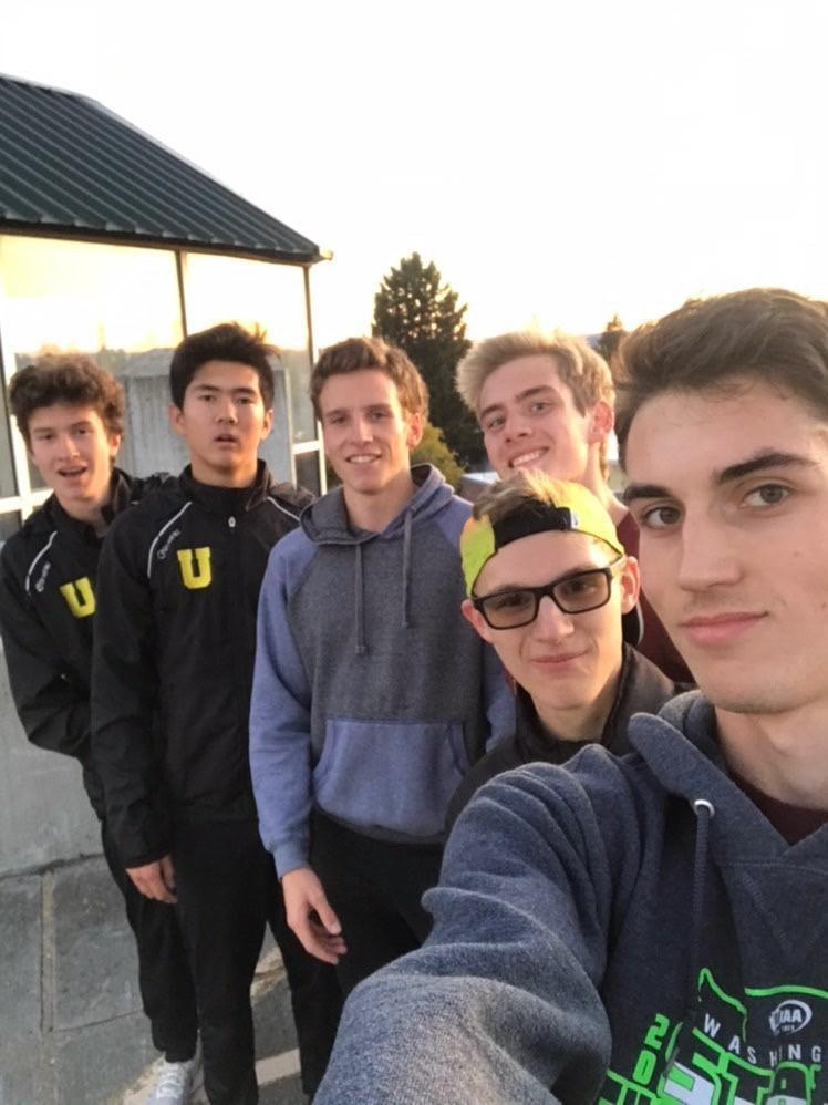 Boys track selfie