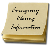 Emergency Closing