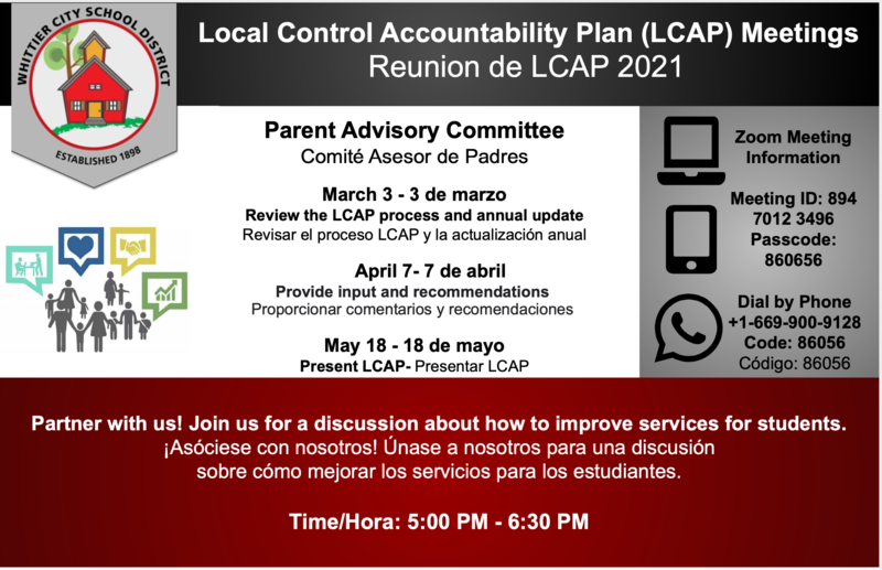 Local Control Accountability Plan (LCAP) Meetings