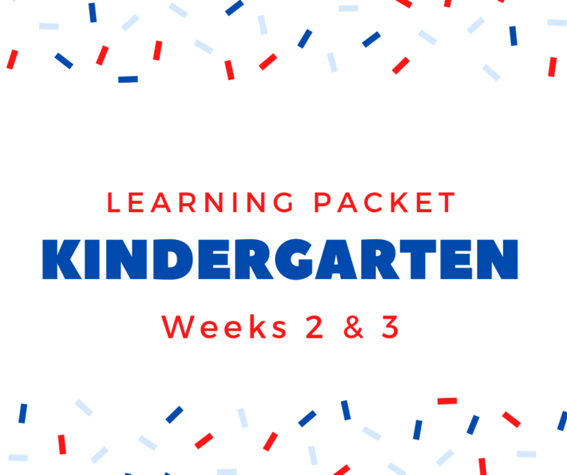 Kindergarten Learning Packet Featured Photo