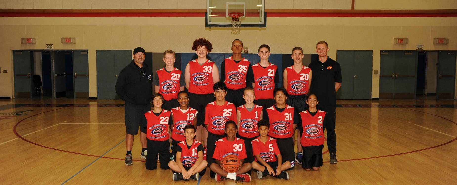 SGMS Boys Basketball team 17-18