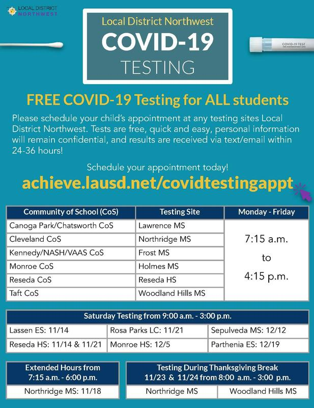 COVID testing for all students Featured Photo