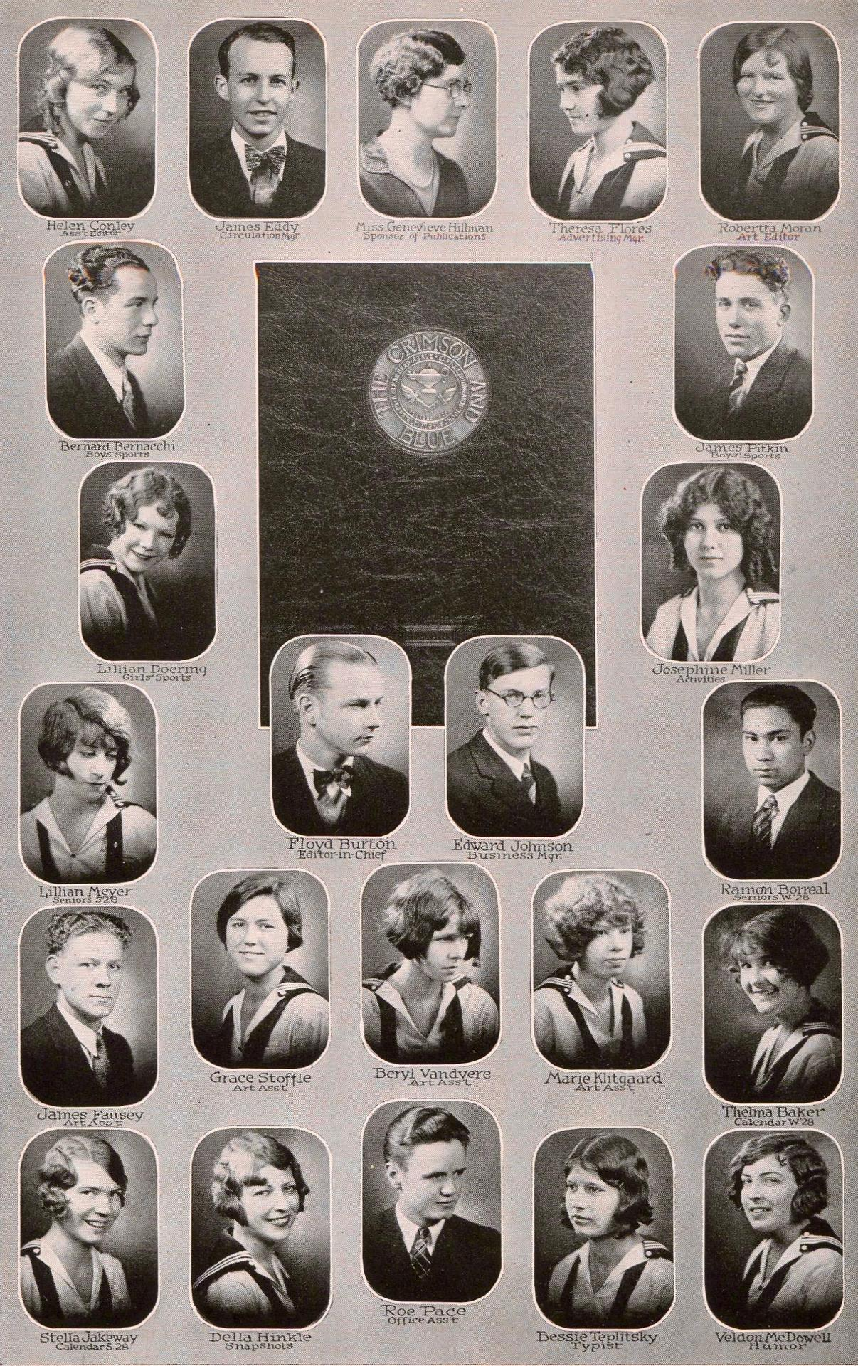 Yearbook Staff of 1928