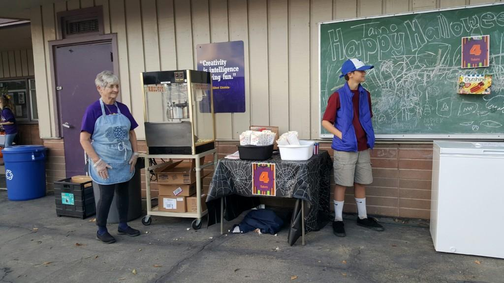 popcorn stand at fall carnival