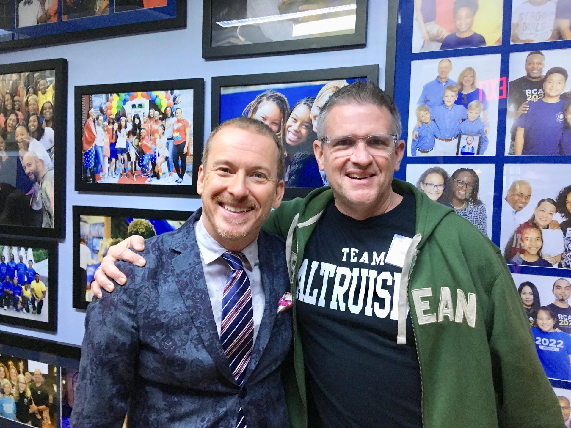 with Ron Clark