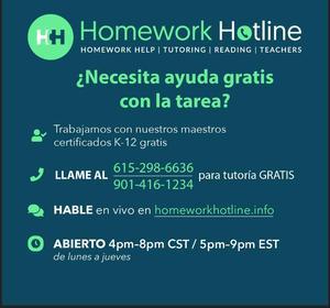 spanish version Homework hotline