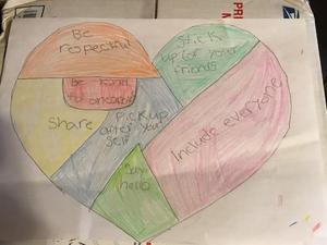 Ellison's kindness heart drawing