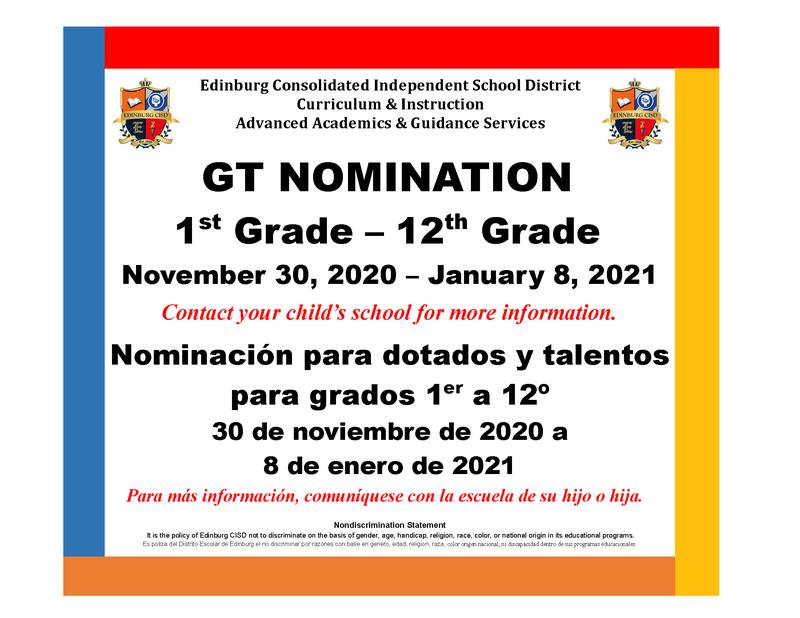 GT Nomination information