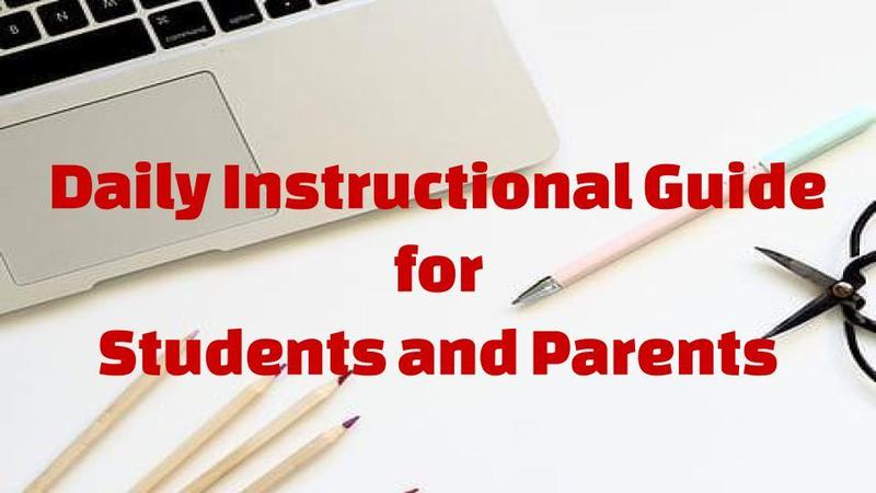 Daily Instructional Guide for Students and Families Thumbnail Image