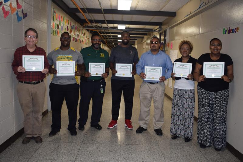 Denman Junior High School recognized practitioners who exemplified excellence during the month of November