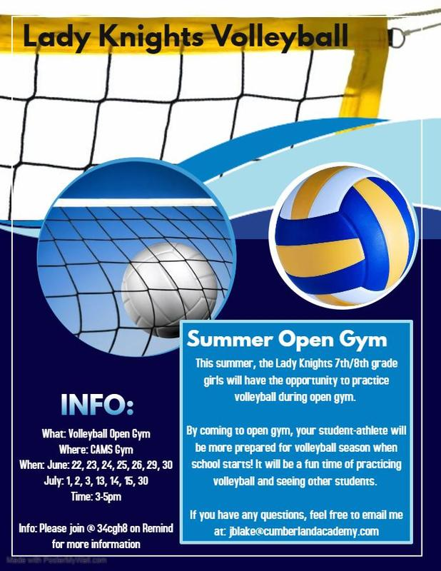 CAMS Summer Volleyball Open Gym Information Featured Photo