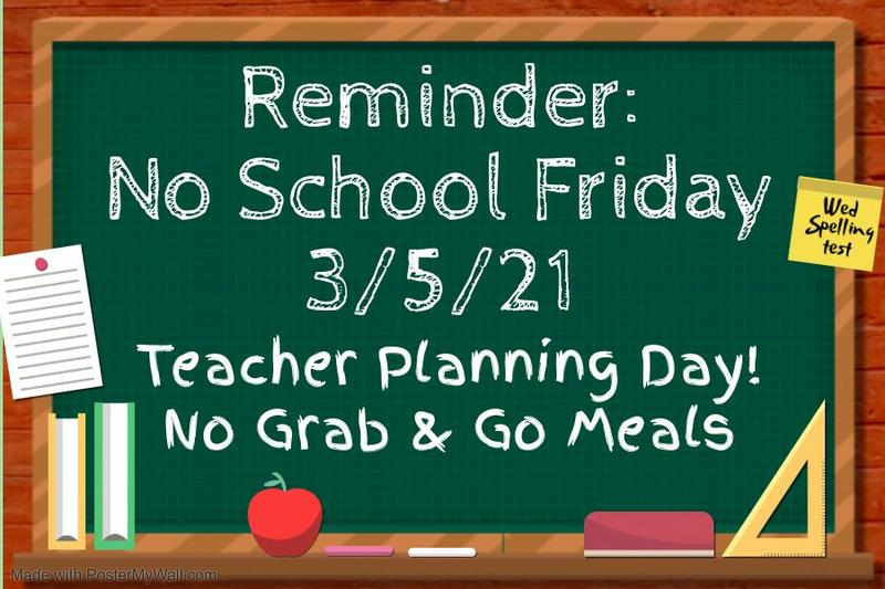No School Reminder