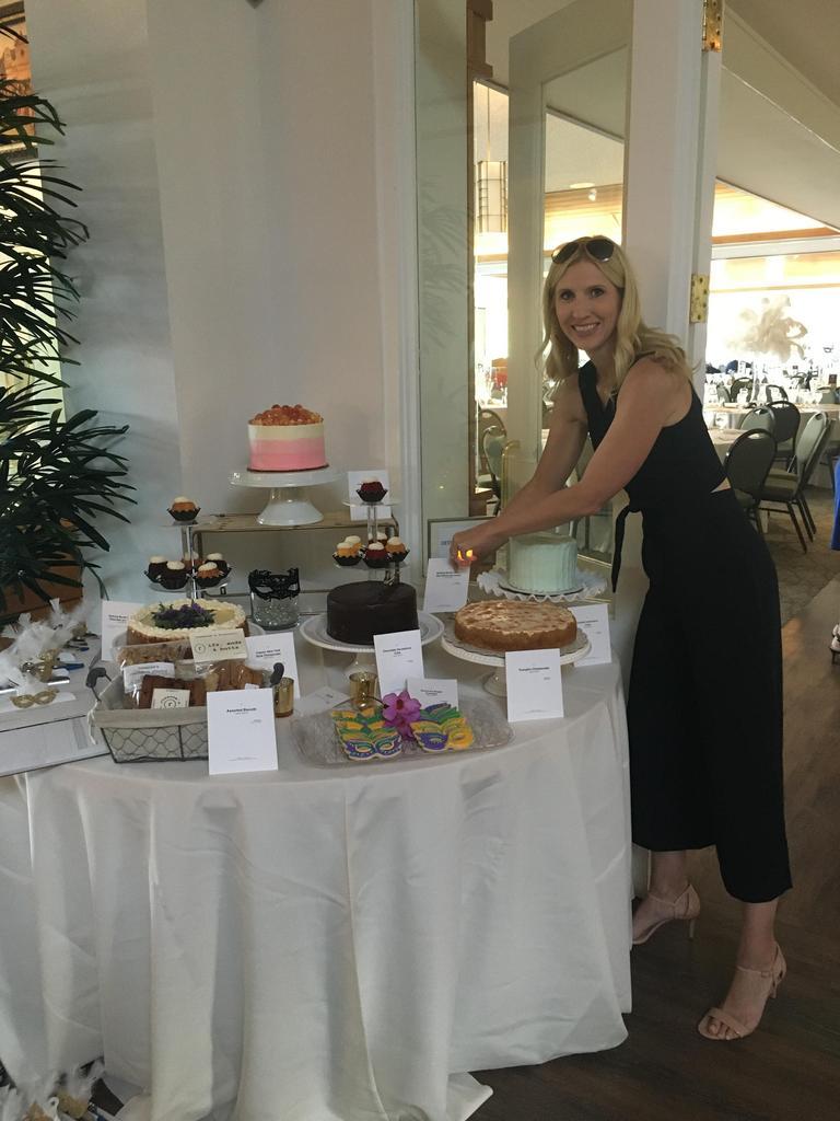 Jane setting up dessert table