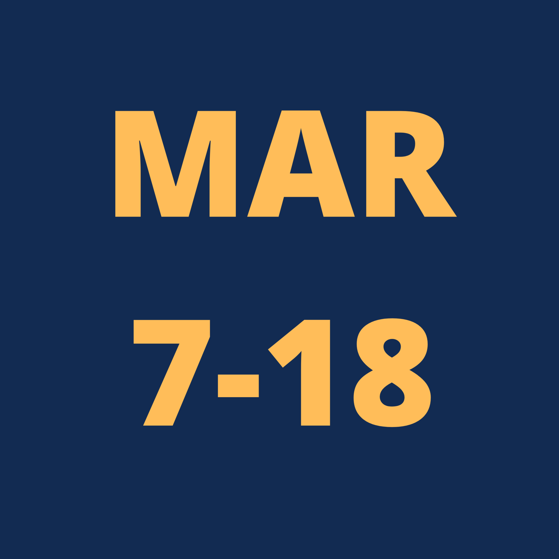 march 4- 18 icon