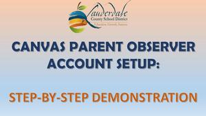 LCSD Canvas Parent Observer Account Setup Demonstration Graphic