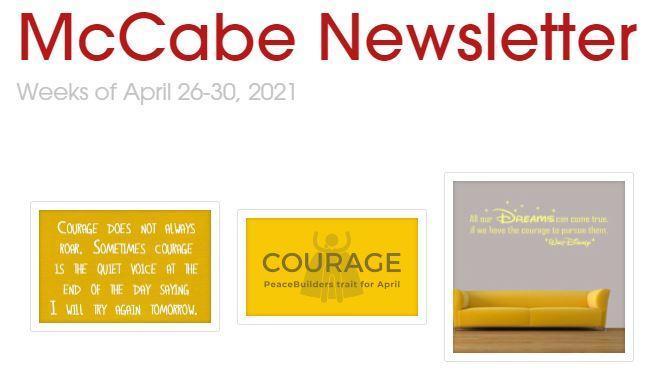 McCabe Newsletter for April 26-30, 2021 Thumbnail Image