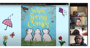 Zoom class watching spring read along video