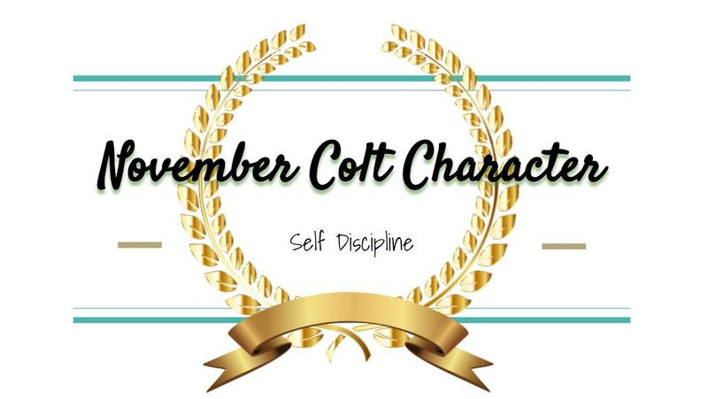 WSMS Announces November Colt Character Awards Featured Photo