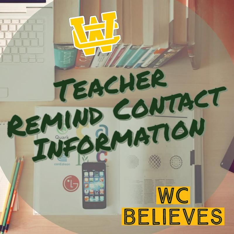 Teacher Remind Contact Information Thumbnail Image