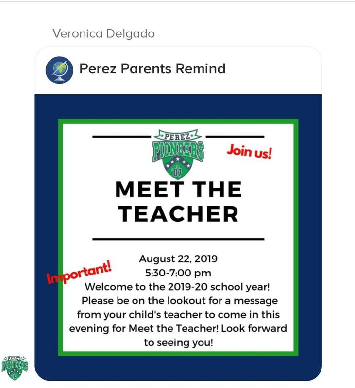 Teachers will be sending reminds to their students' parents.