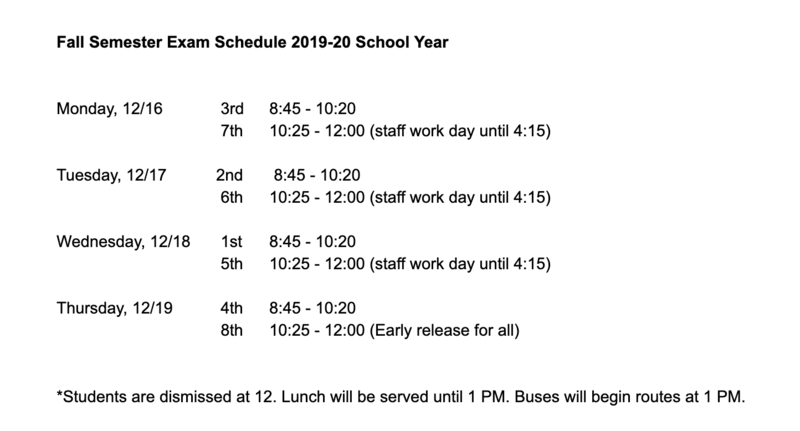 Fall Exam Schedule Posting Featured Photo