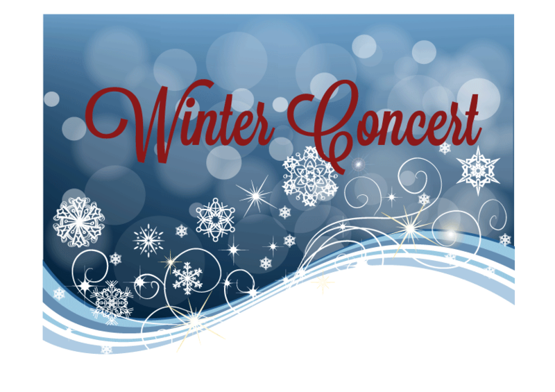 Winter Concert for Band and Chorus - Monday, Dec. 16, 6 pm Featured Photo