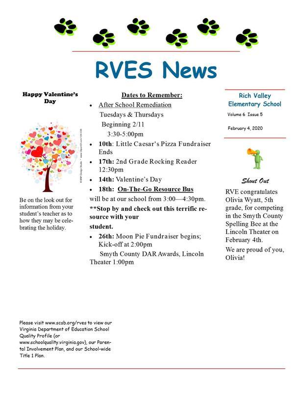 RVES Feb. 2020 New Letter