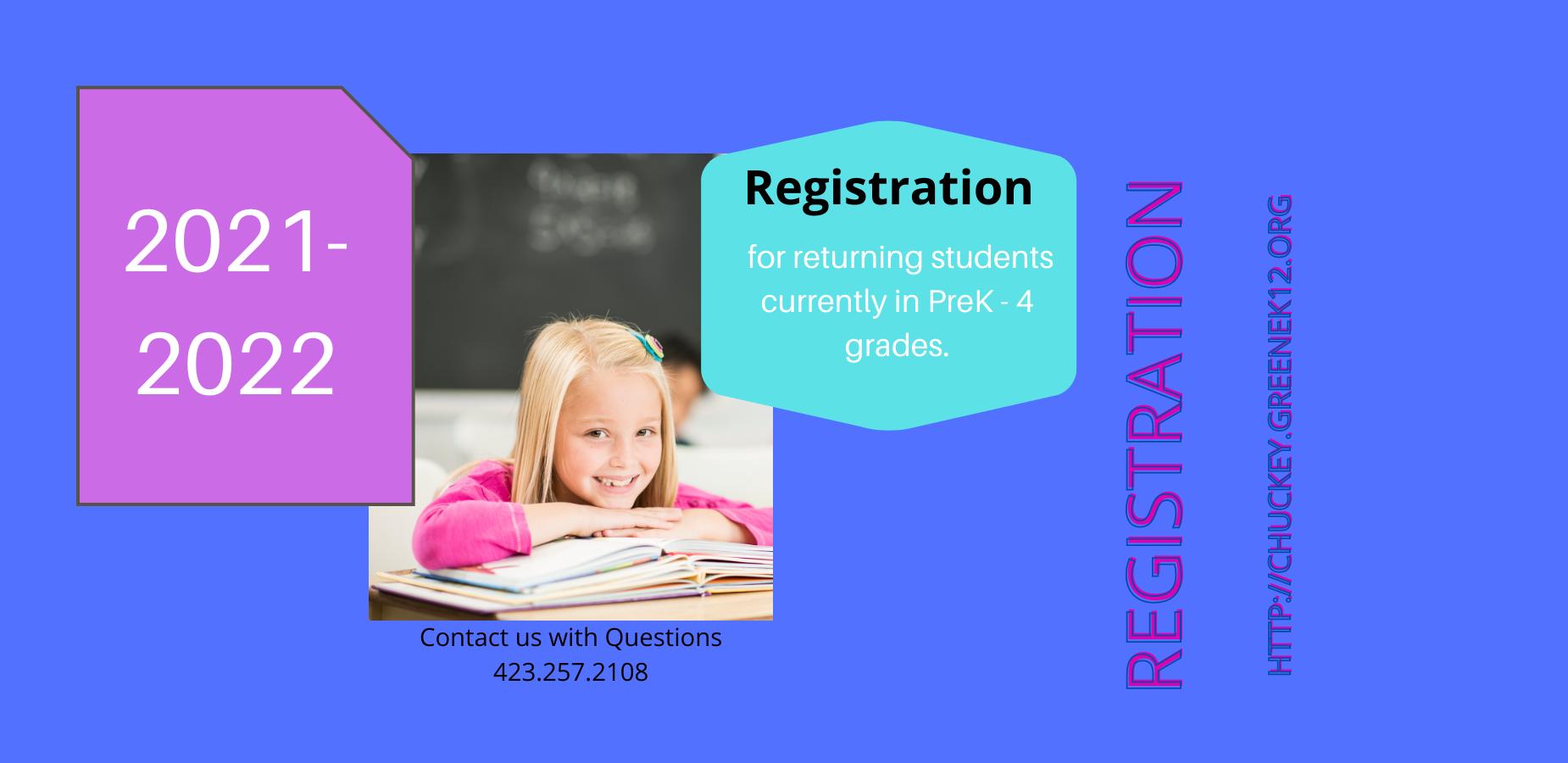 2021-2022 Returning Student Registration