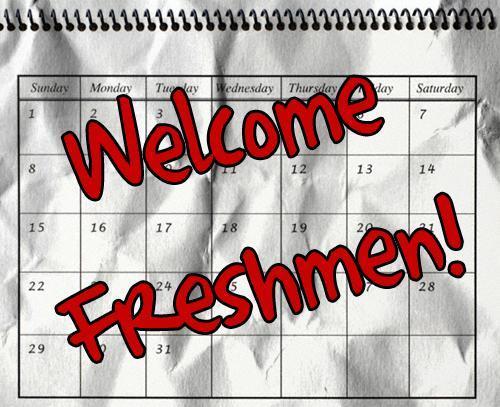 Welcome Freshman Graphic