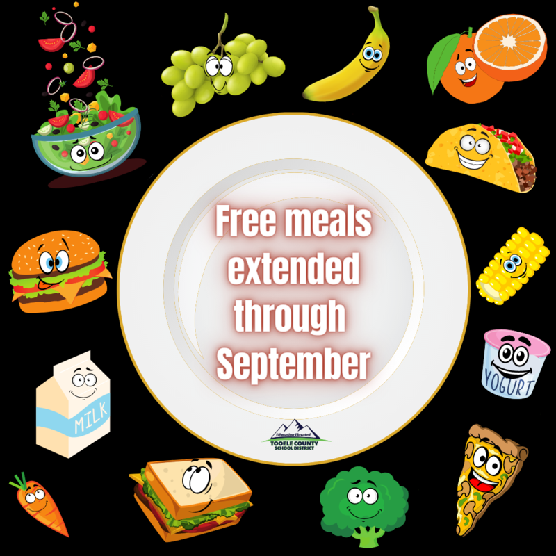 Free meals extended through September graphic