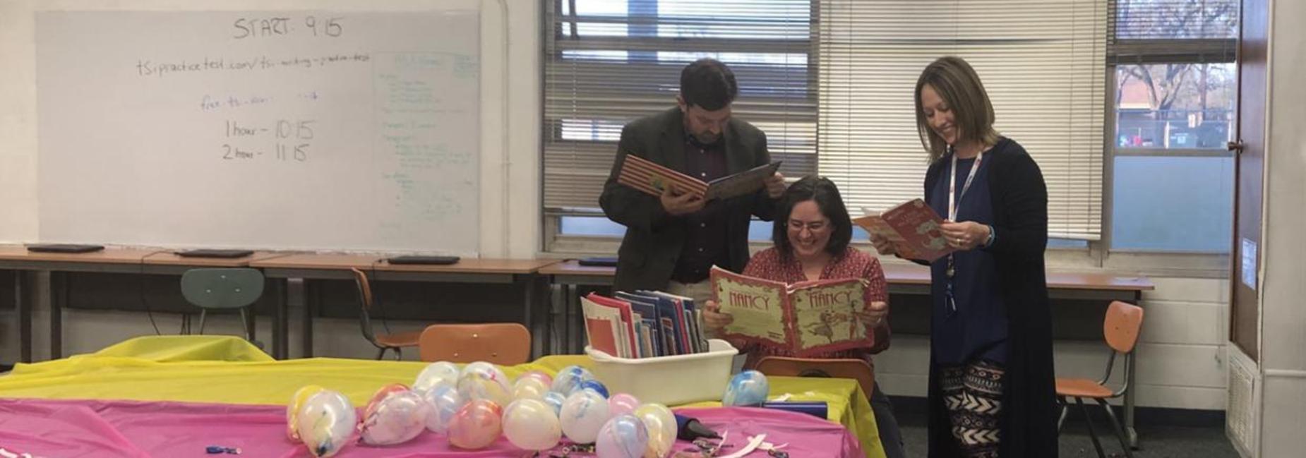 Family Literacy Night - Teachers reading