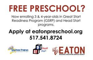 Free Preschool flyer