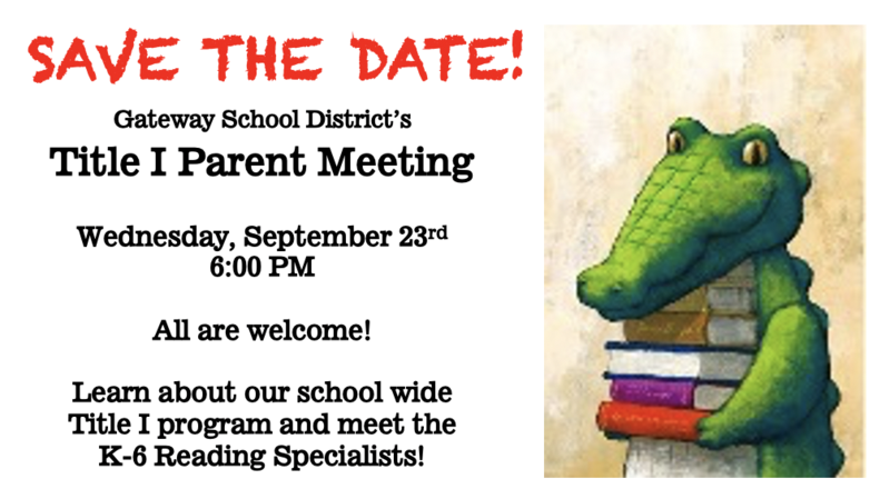 Save the Date: Title 1 Meeting Thumbnail Image