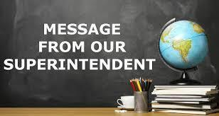 Message from Superintendent Ahmadi