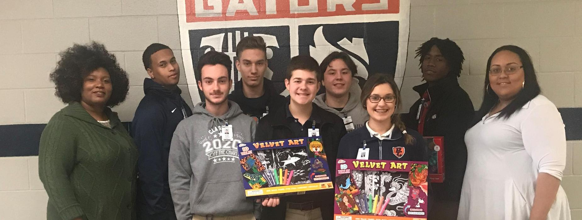 BCHS Beta Club collected toys for the CASA of St. Landry-Evangeline Annual Christmas Toy Drive.