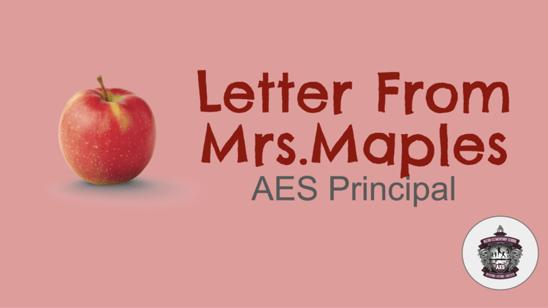 Letter from Principal
