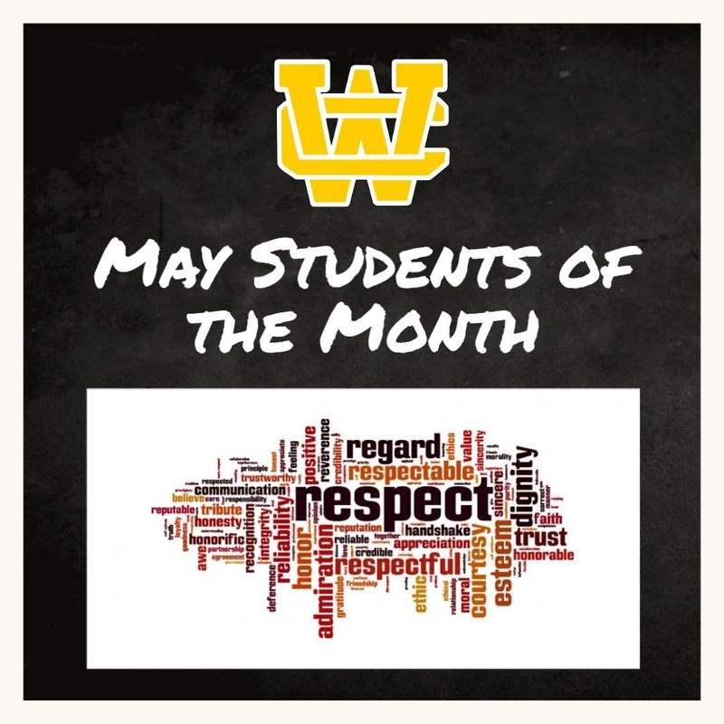 May Students of the Month Thumbnail Image