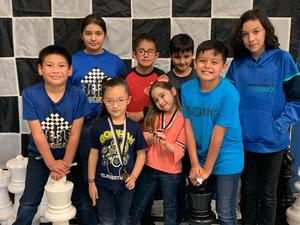 Boys and girls on the Chess Team