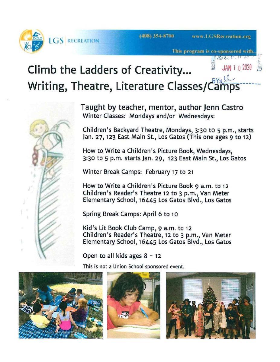 LGS Recreation Writing,Theatre, Literature Camp
