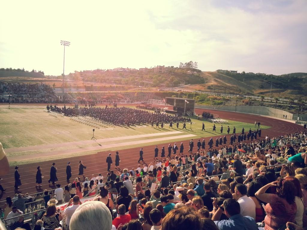 Graduation from the stands
