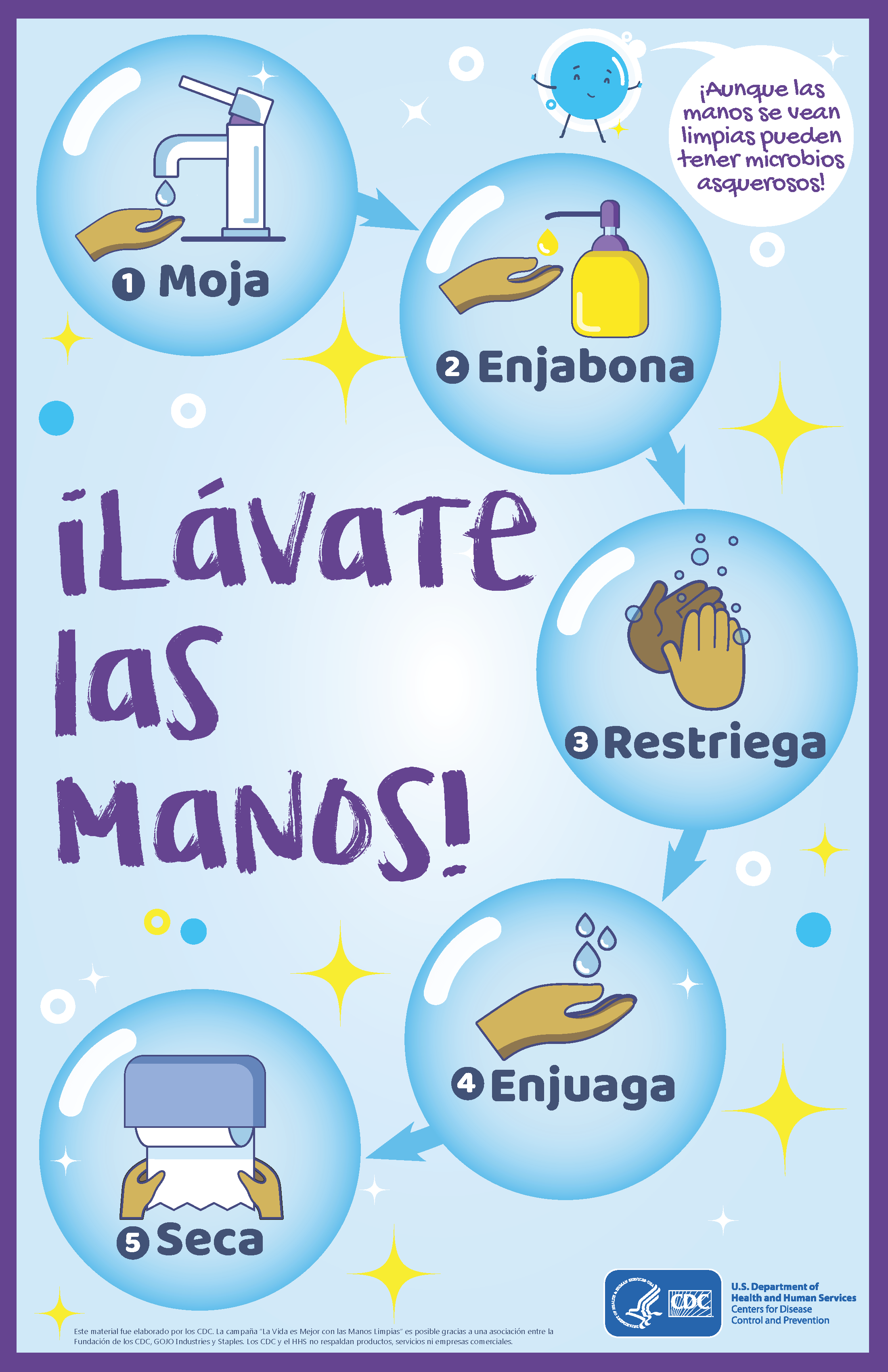 wash your hands flyer spanish