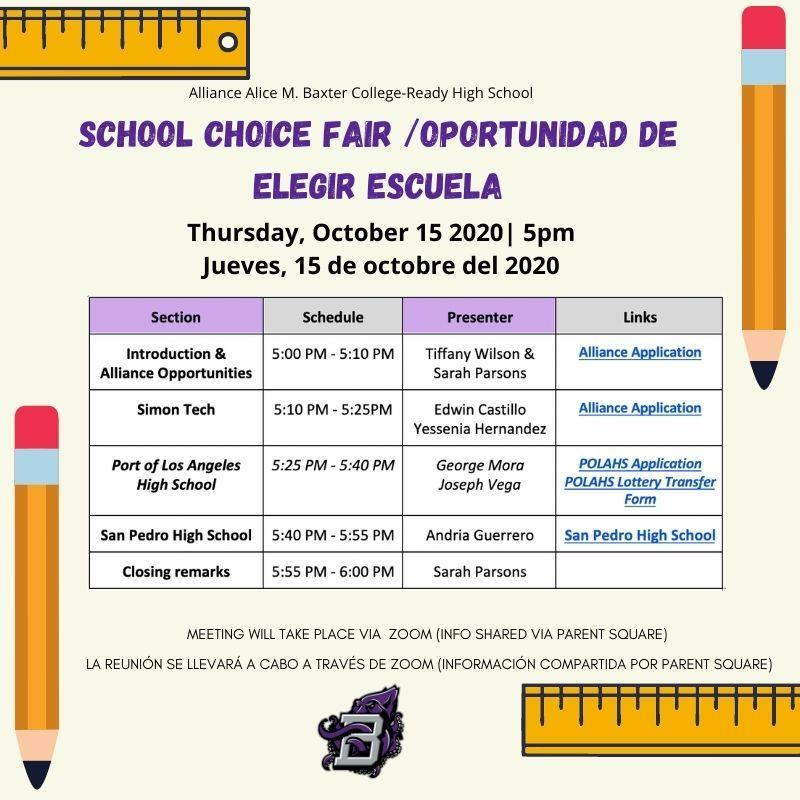 School Choice Fair (CLICK HERE TO VIEW MEETING) Thumbnail Image