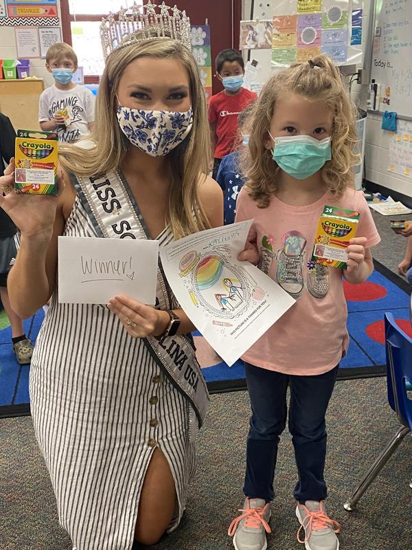 Miss SC USA 2021 Visits B-L Primary School