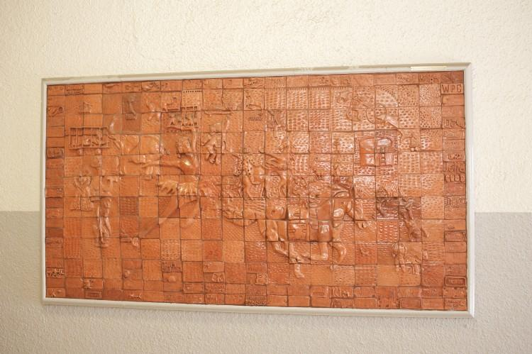 Tile artwork mural as a whole.