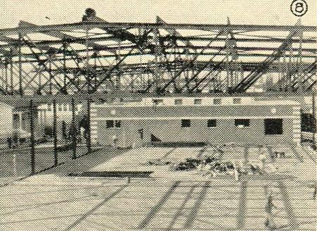 Construction of the new gym