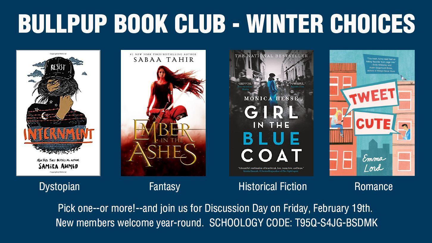 Winter Book Club Selections