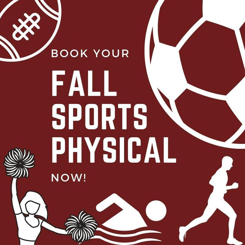 Book your fall sports physical now